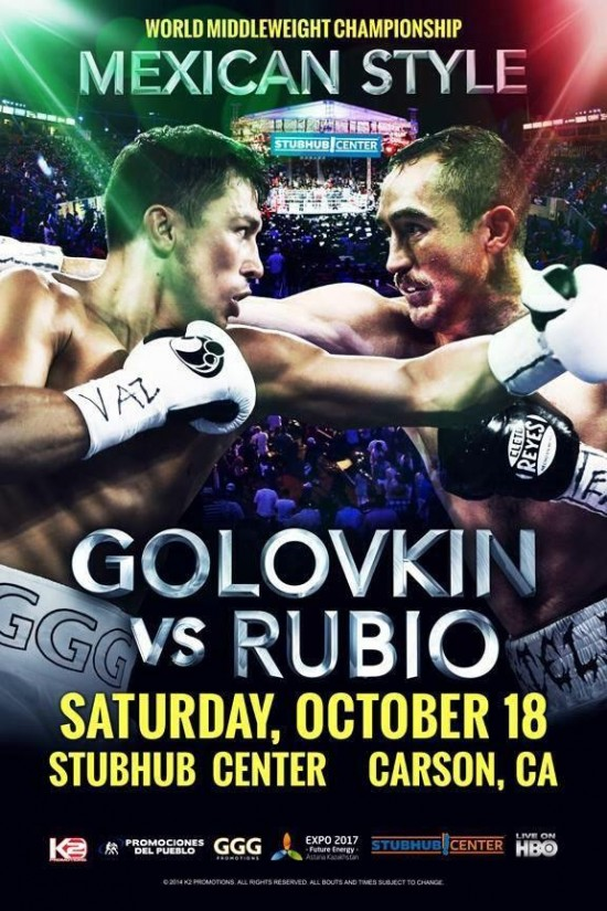Golovkin-Rubio Fight Poster