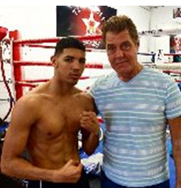 (L-R) - Marcos Forestal & trainer Joe Goossen