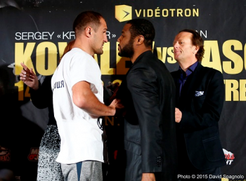 Kovalev and Pascal Face-Off