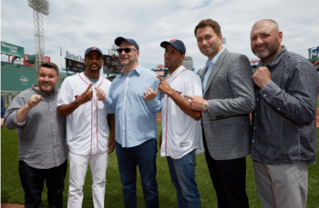(From left to right: Murphys Boxing Ken Casey, Andre Dirrell, DiBella Entertainment's Lou DiBella, James Degale, Matchroom Boxing's Eddie Hearn & Murphys Boxing Sean Sullivan