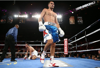 Kovalev drops Mohammedi -  Photo by David Spagnolo/ Main Events