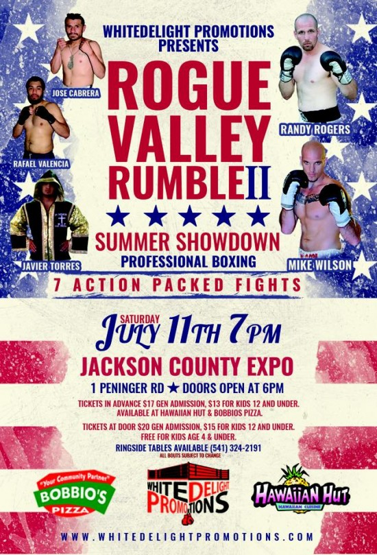 Rogue Valley Rumble II flyer