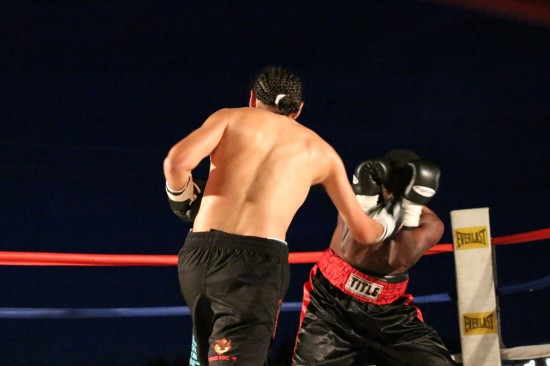 Caferro, at left, lands the uppercut.