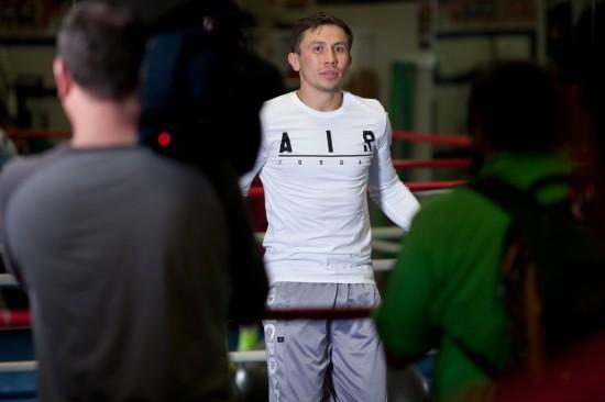 Gennady Golovkin in training