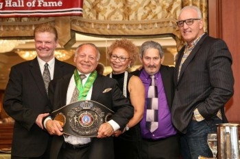 (L-R) - Henry Hascup, Randy Gordon, Melvina Lathan, Bob Duffy and Gerry Cooney - Photo by Peter Frutkoff