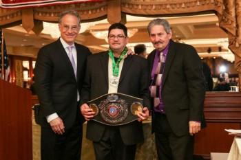 Steve Farhood Vilomar Fernandez and Bob Duffy