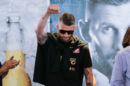 Andrzej Fonfara at Friday's weigh-in (photo courtesy of Nabeel Ahmad / Premier Boxing Champions)