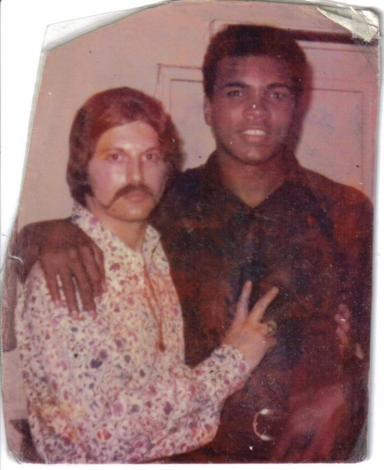 Ron Lipton, at left, with Ali (photo courtesy of Ron Lipton).