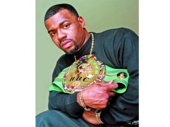 Montell Griffin when he was champion and held the WBC Ligtht Heavyweight Title (photo courtesy of Montell Griffin).