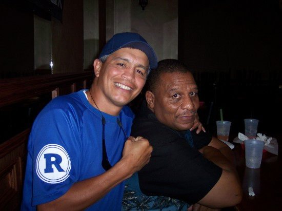 Former ESPN favorite, Joey Ruiz (left) with former cruiserweight champion of the world LeeRoy Murphy.