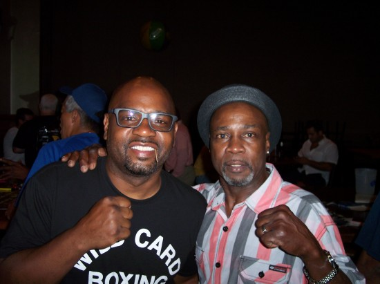 Former light heavyweight champion of the world Montell Griffin (left) with former #1 nationally ranked featherweight Orlando Johnson.
