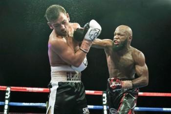 "Reynaldo Blanco vs. Demond Brock (R) headlines the Nov. 18th (photo by Manny ""Mitts"" Murillo / Roy Jones Jr. Boxing Promotions)"