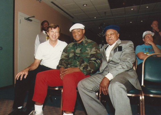 George Foreman sits in the center (photo courtesy of www.georgeforman.com)
