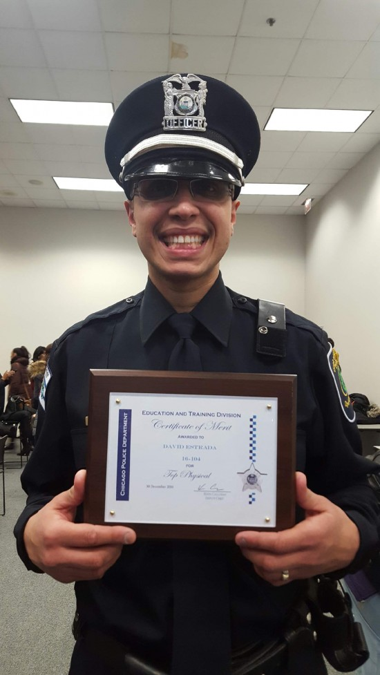 David 'the Weezel' (sic) Estrada proudly shows off his certificate (photo courtesy of David Estrada)