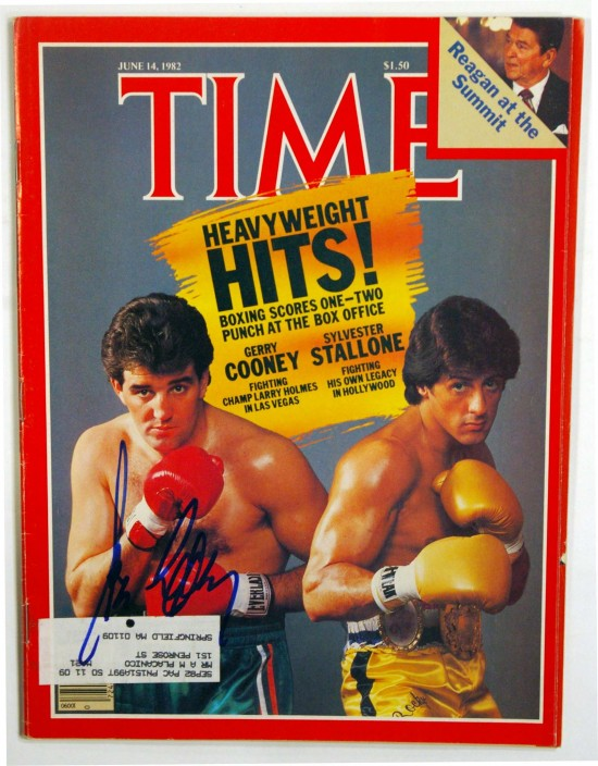 Gerry Cooney appeared on the left on this Time Magazine cover.