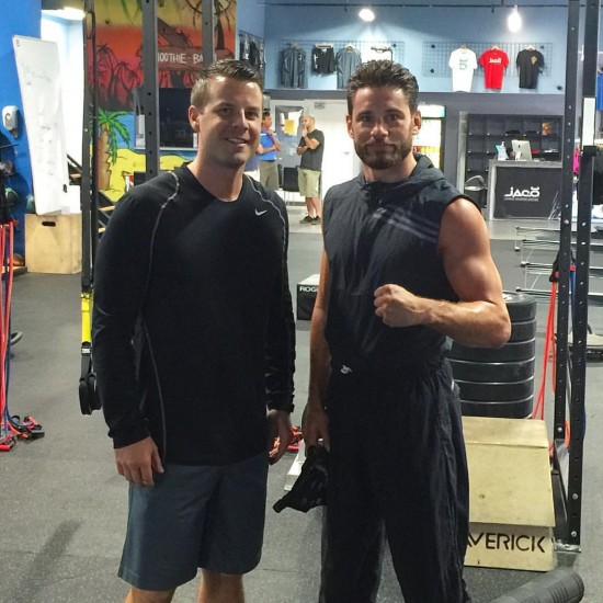 Chris Algieri, at right (photo courtesy of Chris Algieri's Facebook page)