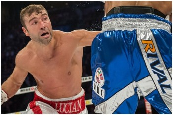 Lucian Bute (L) is fighting for a chance at his 14th world title fight