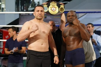 (L-R) - Kubrat Pulev & Kevin  Johnson from today's final press conference (photo credit: LAP.bg)